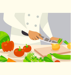 Cook background vector