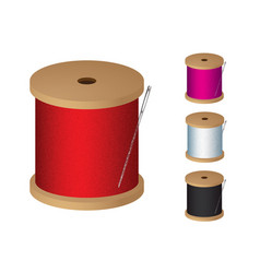 cotton reel vector image