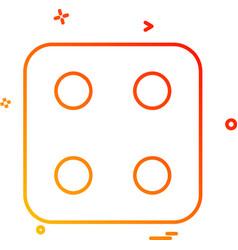 Dice icon design vector
