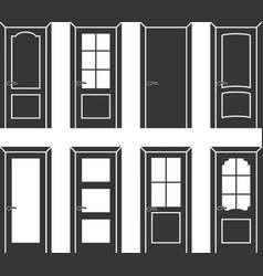 Different design door set vector