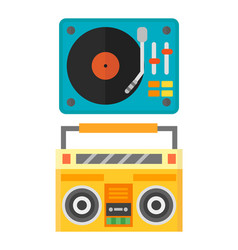dj music mixer equipment channels discotheque vector image vector image