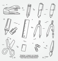 Drawing and writing tools icon thin line for web a vector image
