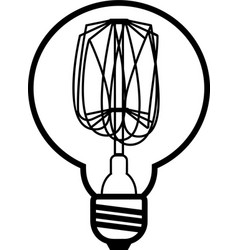 Edison bulb vector