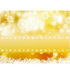Elegant gold christmas background vector