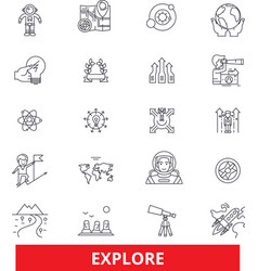Explore adventure discover expedition search vector
