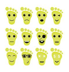 Feet Icon Logo Foot Icon Logo Funny Icon Logo Face vector
