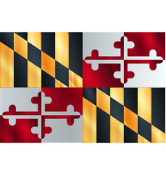 Flag the state of maryland vector