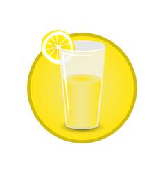 glass of lemon juice vector image
