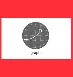 Graph contour outline icon vector image