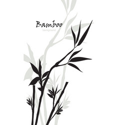 Hand-drawn bamboo background with space for text vector