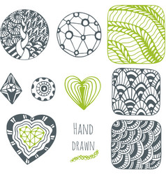 Hand drawn stylized collection Set of vector image