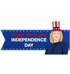 Hillary clinton independence day vector