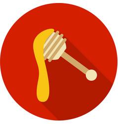 Honey dipper icon vector