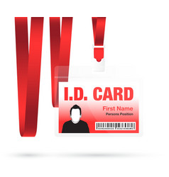 Id card man red vector