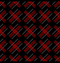 knitting seamless plaid pattern with lines vector image