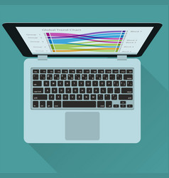 laptop design elements vector image