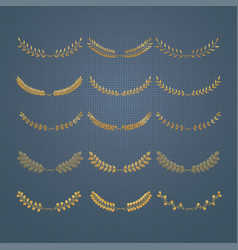 laurels and wreaths design elements vector image