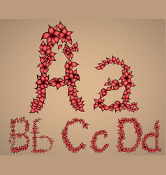 Letters of the alphabet A B C D vector