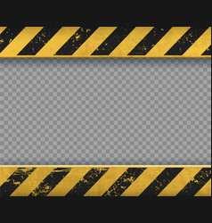 Metal yellow plate with black stripes vector