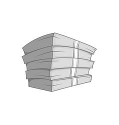 Money stack icon black monochrome style vector image