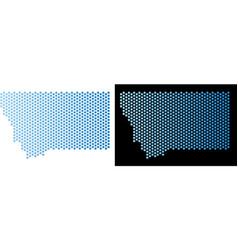 Montana state map honeycomb mosaic vector