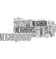 Neighbors word cloud concept vector