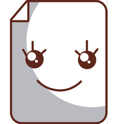 paper document kawaii character vector image