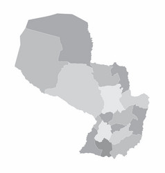 paraguay regions map vector image