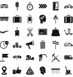 pay for delivery icons set simple style vector image