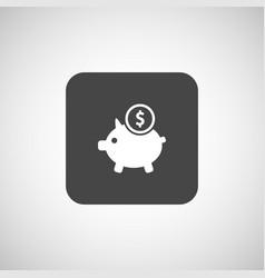 Piggy icon bank economy coin money piggy savings vector image