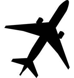 plane icon flat pictogram vector image