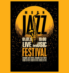 Poster with a saxophone for jazz festivals vector