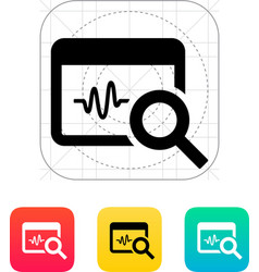 Pulse monitoring icon vector image