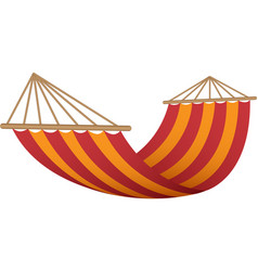 red orange hammock icon realistic style vector image