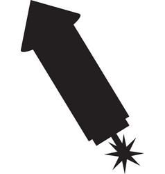 rocket firework isolated icon vector image
