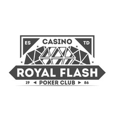royal flash casino isolated label vector image