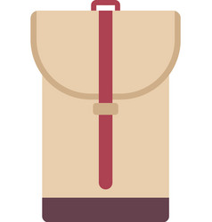 school backpack in flat style backpack vector image