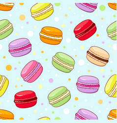 Seamless macaroon pattern vector image