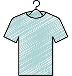 shirt hanging in hook vector image