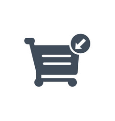 shopping cart icon put in cart online shopping vector image