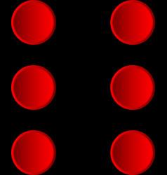 six vector image vector image