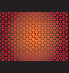 skullz wallpaper vector image
