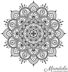 Tibetan mandala decorative ornament design vector