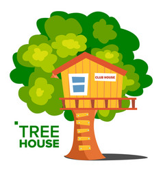 tree house children playground house on vector image