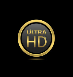Ultra HD icon vector image
