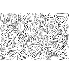 White Wallpaper with Triangle Spiral Pattern Backg vector image