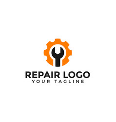 Wrench and gear repair fix machine maintenance vector