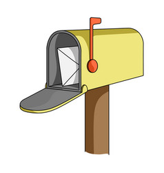 correspondence boxmail and postman single icon in vector image vector image