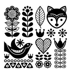 Finnish folk art pattern - Scandinavian Nordic vector image vector image