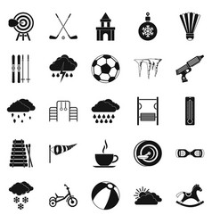 kid game icons set simple style vector image vector image